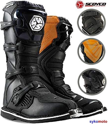 Motocross Botas SCOYCO MBM001 Hombre Off Road Protector Enduro ATV Quad Carreras Kart Zapatos Negro Exclusivo (EU 42)