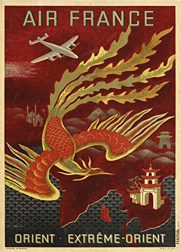 vintage-travel-the-orient-with-air-france-c1949-250gsm-gloss-art-card-a3-reproduction-poster