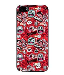 PrintVisa Designer Back Case Cover for Apple iPhone 5S (Funky Worm Virus Cry Teeth Bone Bacteria )