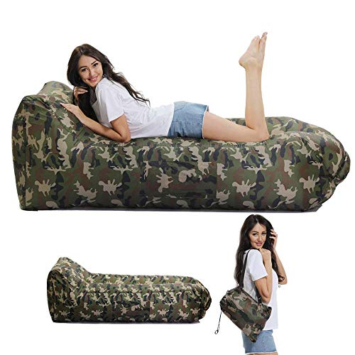 Lazy Wind Saco Dormir Hinchable reclinable Aire Libre