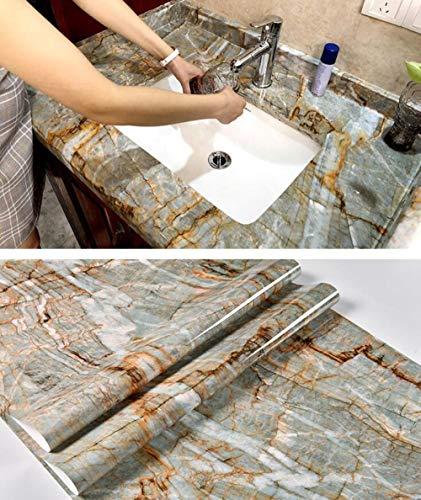 Wasserdichte selbstklebende Verdickung PVC Marmor Muster Tapete Hintergrund Wand Bad Arbeitsplatte Kochfeld Schrank Renovierung Aufkleber - Magie Arbeitsplatte