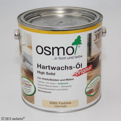OSMO Hartwachs-Öl Original, 3065 farblos halbmatt - 10 Liter