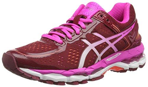 Asics Gel-Kayano 22, Damen Laufschuhe, Rot (Deep Ruby/White/Pink Glow 2601), 39.5 - Frauen Kayano Schuhe Asics