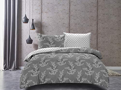 DecoKing Premium Bettwäschegarnituren mit 1 Kissenbezug Blumenmuster Bettbezüge Microfaser