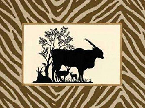 Sarah E Chilton – Serengeti Silhouette I Kunstdruck (45,72 x 60,96 cm) (Serengeti Silhouette)