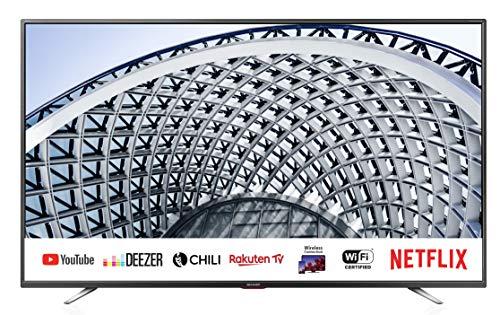 sharp aquos smart tv 40 full hd suono harman kardon sat internet wifi youtube netflix 3xhdmi 2xusb uscita cuffie, scart e audio digitale.