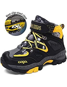 Easondea Kid's Climbing Boots Zapatos para caminar antideslizante Garra de acero Winter Keep Warm Snow Boots Plus...