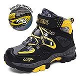 Easondea Kid's Climbing Boots Zapatos para caminar antideslizante Garra de acero Winter Keep Warm Snow Boots Plus Cashmere Outdoor Zapatos para caminar para niños