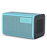 GGMM E3 Wi-Fi Lautsprecher Bluetooth Speaker OHNE Alexa Wireless Multiroom System Stereo Sound 10W, mit Wifi Repeater, LED Uhr Wecker und USB Ladeport für iOS & Android Geräte, Airplay/ DLNA/ Spotify (Blau)