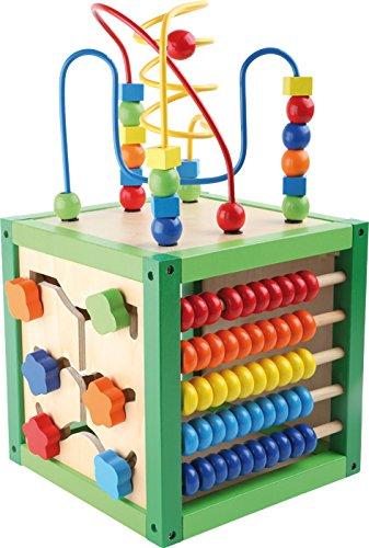 """Small Foot by Legler Motorikwürfel """"Frühling"""" aus Holz, Babyspielzeug mit fünf Bunten, farbenfrohen Spielflächen, ab 12 Monaten"""