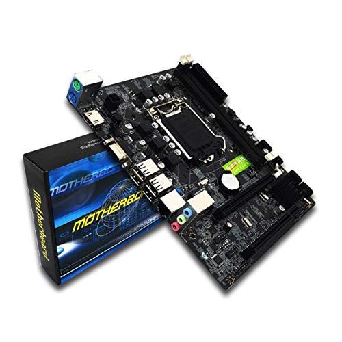 Placa Base para computadora, Placa Base para computadora de Escritorio Profesional para Intel H55 Socket HDMI LGA 1156 Pin Placa Base DDR3 de Doble Canal con I/O Shield