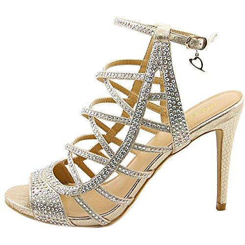 Thalia Sodi Clarisa Femmes Toile Sandales Champagne