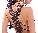 Camiseta de chica con encaje en la espalda mod. LOLA - MWS AHEAD - Negro