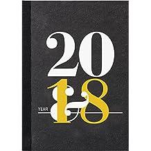 rido/idé 702602101 Buchkalender Mentor, 1 Seite = 1 Tag, 145 x 206 mm, Karton-Einband schwarz, Kalendarium 2018