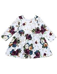 61d1dd56b K-youth Vestido Bebe Niña Fashion Ropa Bebe Niña Floral Vestido de Princesa Niña  Ropa para Niña Ropa para Bebe…