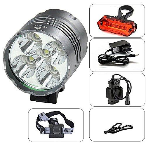 Nestling® Starke Helligkeit / normale Helligkeit / Blitzen Wasserdicht Geeignet für Innen- wie Haupt: 6000LM Fahrrad-Fahrrad-Scheinwerfer-Scheinwerfer-Licht 5x CREE XM-L T6 LED Lichteinheit