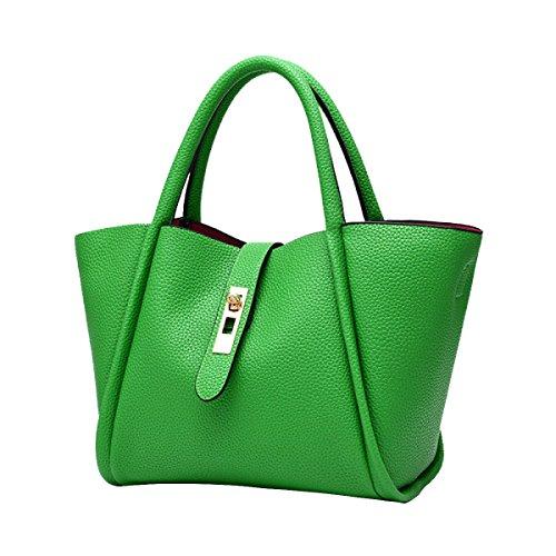 Véritable Bandoulière En Cuir Style Urbain Des Femmes Sac Fourre-tout green