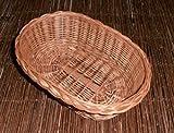 Tablett Weidentablett Geschenkkorb Dekorationskorb Weide verschiedene Varianten zur Auswahl (UTA011 - oval, vollgeflochten, tief)
