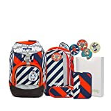 Ergobag Special Edition Stripes Schulrucksack-Set Pack 7-tlg Bär2-D2 925 orange/blaue streifen