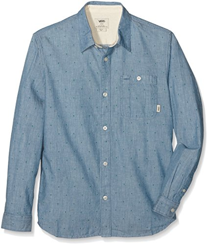 Vans - BAYVIEW LS BOYS, Camicia Bambino, blu (blue Ashes), Large ( Large)