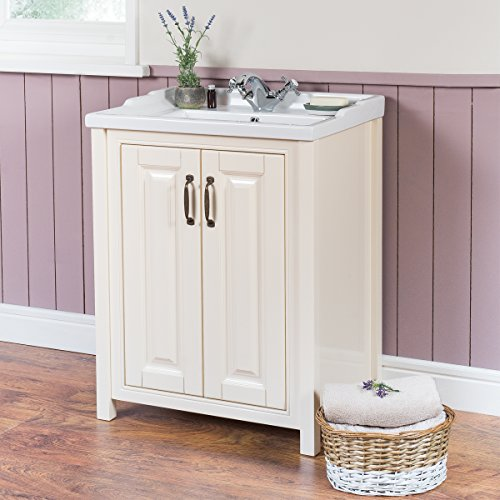 NEW Bathroom Vanity Sink Floorstanding Ivory Furniture Basin Unit