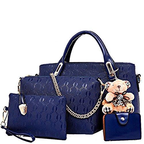 Borsa Da Donna Fanhappygo In Stile Vintage Con Manico In Pelle Borsa A Tracolla Blu