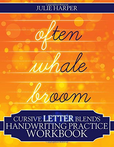 Cursive Letter Blends Handwriting Practice Workbook: Learn to Handwrite