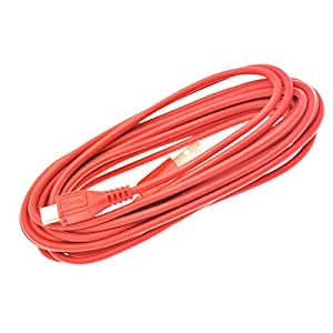 NEW HIGH QUALITY 3M METER RED MICRO USB 5 PIN SYNC LONG CHARGER DATA CABLE FOR ASUS GOOGLE NEXUS 7 MEMO PAD SMART 10 VIVOTAB