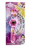 LED digital 24 projector PRINCESS Go cartoon watch Snow PRINCESS children wrist watches clock girl & Boy gift baby toys