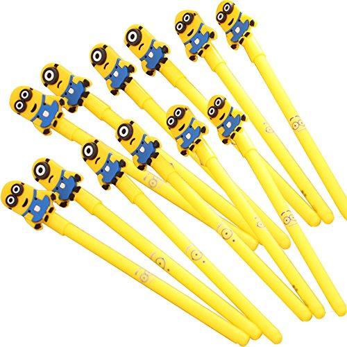 Mini bolígrafos de punta redonda de los Minions, 12 unidades.