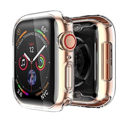 Uluck Apple Watch Series 4 Hülle 40mm, i Watch 4 Weiche TPU Displayschutz Rundum Ultradünn Schutzhülle 0.3mm Ultra-Slim Schutz für Apple Watch Serie 4 40mm (Christmas Anzug Mens)