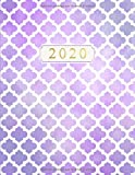 Planificateur Hebdomadaire Avec Calendriers Mensuels, Jours Fériés, Listes de Choses à Faire et Pages de Notes: Planificateur Hebdomadaire et Calendrier Mensuel Avec Quadrilobe / Treillis Marocain...