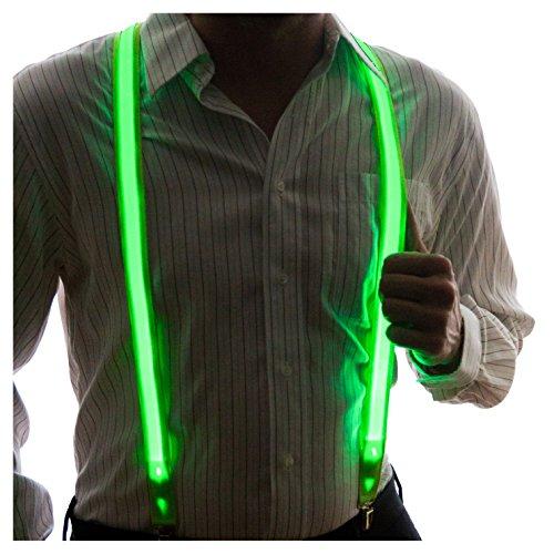 NEON NIGHTLIFE Los hombres a iluminar las ligas de LED, raya, brillante adicional, un tamaño, verde
