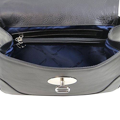 Tuscany Leather - TL NeoClassic - Sac Bauletto en cuir Cognac - TL141227/6 Noir