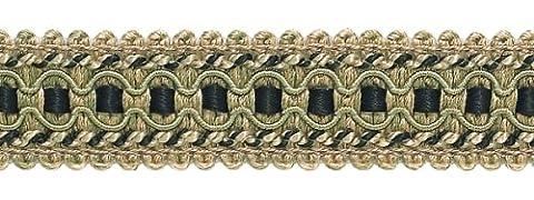 Taupe, Noir 2,5cm Imperial II Gimp Tresse Style # 0125ig