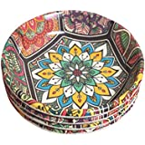 Decornt Appetizer Plate/Snack Plate/Chat Plate/Quarter Plate; Made Of Food-Grade Melamine; 6 Inches Diameter; Round Shape; Set Of 4; Multi-Color.