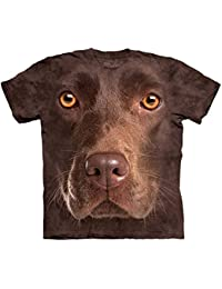 The Mountain Unisexe Enfante T�te Labrador Chocolat T Shirt