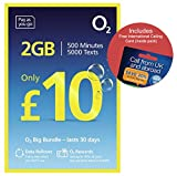O2 (2G/3G/4G) UK & Europe Trio SIM PAYG £10 Bundle -2GB Data, 250 mins + 1000 Texts + International Calling Card - (Love2surf Retail Pack)