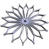 Hermoso plegable mesa manteles individuales de silicona de color blanco