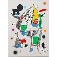 Joan Miro grafica litografia Mara Villas 20–drucksigniert limitata