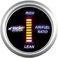 Simoni Racing Afr/D Digital Air-fuel Ratio Gauge, fondo negro