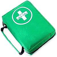 Yuan Ou Kit Primeros Auxilios Kit De Primeros Auxilios Bolsa De Primeros Auxilios Portátiles Resistentes Al Agua para Kits De Emergencia Al Aire Libre para El Hogar del Coche 2.5''x5''x7cm Verde