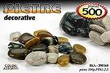 Set 6 confezioni da 500 gr di pietre sassi naturali per composizioni fiori secchi o acquari