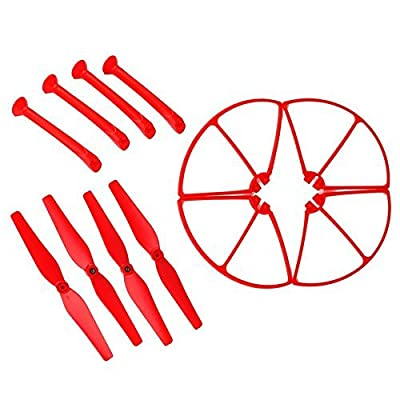 2-Vane Propellers,elecfan Syma Quad Copter Kit Replacement Spare Parts Props Guard for X8 X8C X8W Venture RC Aircraft 4pcs Main Blade