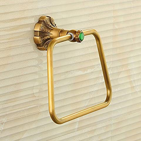 Antico anello di tovagliolo europea tovagliolo di rame Hanging asciugamano intagliato Hanging da bagno anello di tovagliolo
