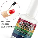 Perfect Summer 15ml Peel Off Nails Art Manicure Prime Liquid Tape Base Coat Palisade Easy Tear Latex Gel Nail Polishes Finger Skin Protected Care Cream (gruen) mit Nagel Pinzette