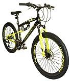 Best Mountain Bikes - New Mens/Gents Black Muddyfox Nevada 26 Inch Dual Review