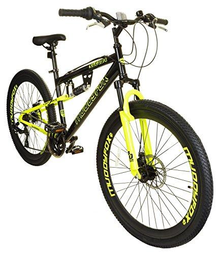 New Mens/Gents Black Muddyfox Nevada 26 Inch Dual Suspension Bikes - Black - Best Price and Cheapest