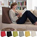 L'exceptionnel coussin cale dos pour le salon ou la chambre, pour la lecture assise décontractée. Cinq couleurs unies pour une ambiance dans le style branché de Sabeatex (Brun)