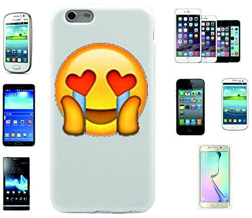 """Smartphone Case Apple IPhone 7+ Plus """"freudiger Smiley mit Herzaugen und weinendem Gesicht"""", der wohl schönste Smartphone Schutz aller Zeiten."""
